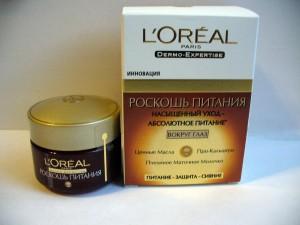 Крем для кожи вокруг глаз L'Oréal «Роскошь питания»