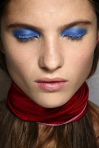 Голубые тени - модный тренд 2014