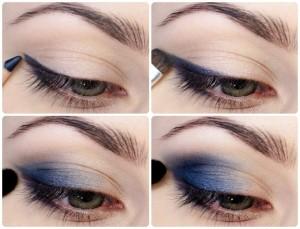 Как использовать синие и голубые тени?